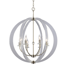 Galaxy Lighting 922756BN - Pendant Fixture with Thick Panes of Clear Acrylic