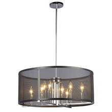 "Galaxy Lighting 922791CH/BK - Pendant Fixture with Black Mesh Shade(6"", 12"" & 18"" Extension Rods Included)"