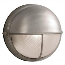 Galaxy Lighting L305561SA010A1 - LED Outdoor Cast Aluminum Wall Mount Marine Light with Hood - in Satin Aluminum finish with Frosted
