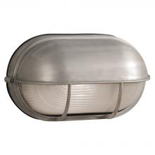 Galaxy Lighting L305562SA012A1 - LED Outdoor Cast Aluminum Wall Mount Marine Light with Hood - in Satin Aluminum finish with Frosted
