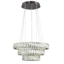 Galaxy Lighting L919606CH - Led 3-Tier Crystal Ring Pendant - In Polished Chrome Finish With Clear K9 Crystals (Dimmable, 4000K)