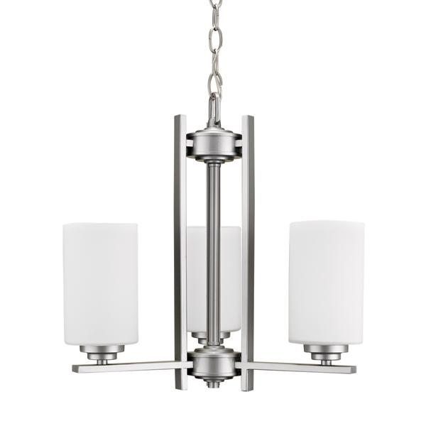 3 arm up light chandelier