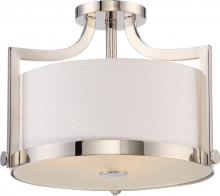 Nuvo 60/5883 - MEADOW 3 LIGHT SEMI FLUSH