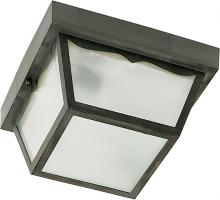 Nuvo SF77/891 - 2 LIGHT POLY CARPORT FLUSH