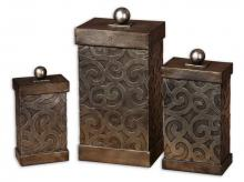 Uttermost 19418 - Uttermost Nera Metal Decorative Boxes, Set/3